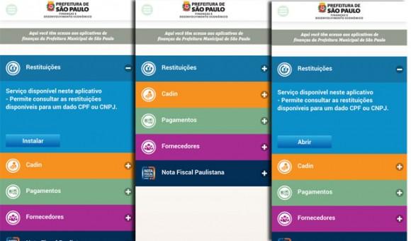 Prefeitura lança três novos  aplicativos de finanças  para smartphones